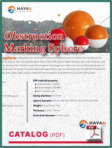 The technology of obstruction marking sphere.